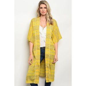 🆕 Yellow Kimono/ Swim Cover Up